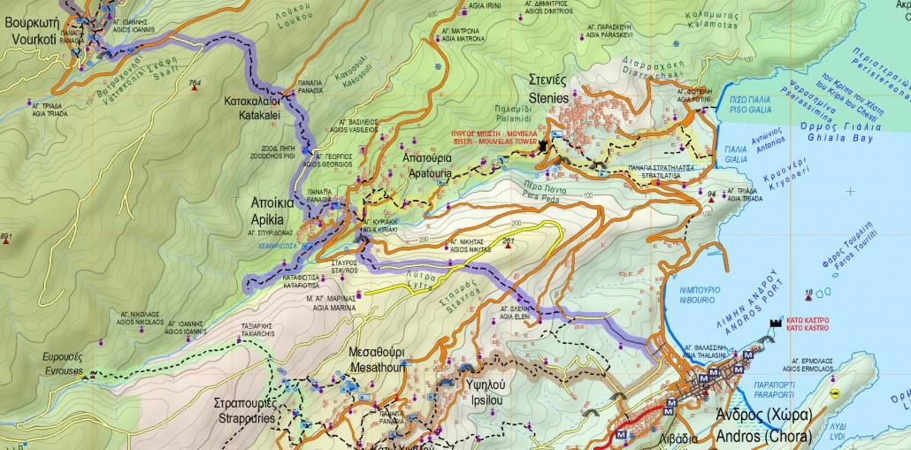 ChoraApikiaKatakaleiVourkoti Andros Routes